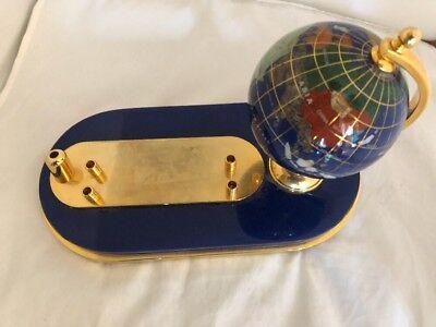 Globe Business Card Holder - Gemstone Globe Pen Holder Business Card Holder