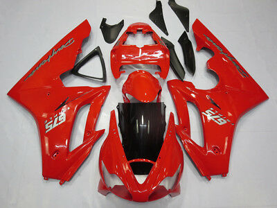 Red Bodywork Fairing Panel Kit for Triumph Daytona 675 2006 - 2008 ABS Injection