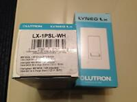 Interrupteur Lutron Lyneo Switch LX - 1PSL - WH