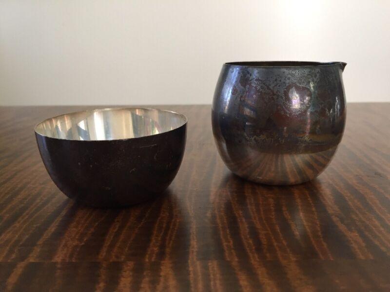 Tiffany & Co. Sterling Silver Traditional Sugar Bowl & Creamer Set ~Lot of 2