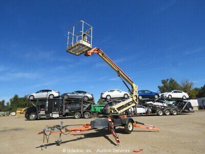 2010 Jlg T350 35 Electric Towable Boom Lift Man Lift Aerial Platform Bidadoo