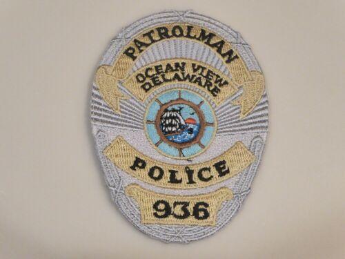 OCEAN VIEW DELAWARE PATROLMAN POLICE #936 UNIFORM EMBLEM PATCH, NEW UNUSED!