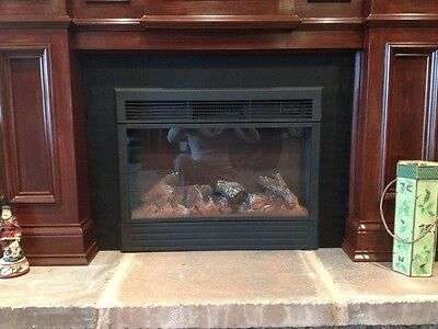 Metal Fireplace Insert Surround Filler Panel Mantel Fender Stove Panel