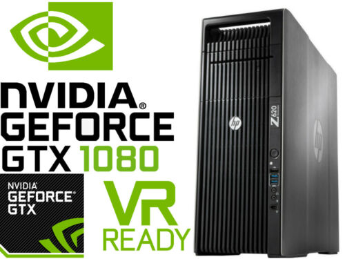 Hp Z620 4k Vr Ready Gaming Computer 2.9ghz 16 Cores Gtx1080 24gb Ram 256gb Ssd