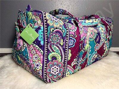 New Vera Bradley Large Duffel tote bag in Heather NWT Travel Gym