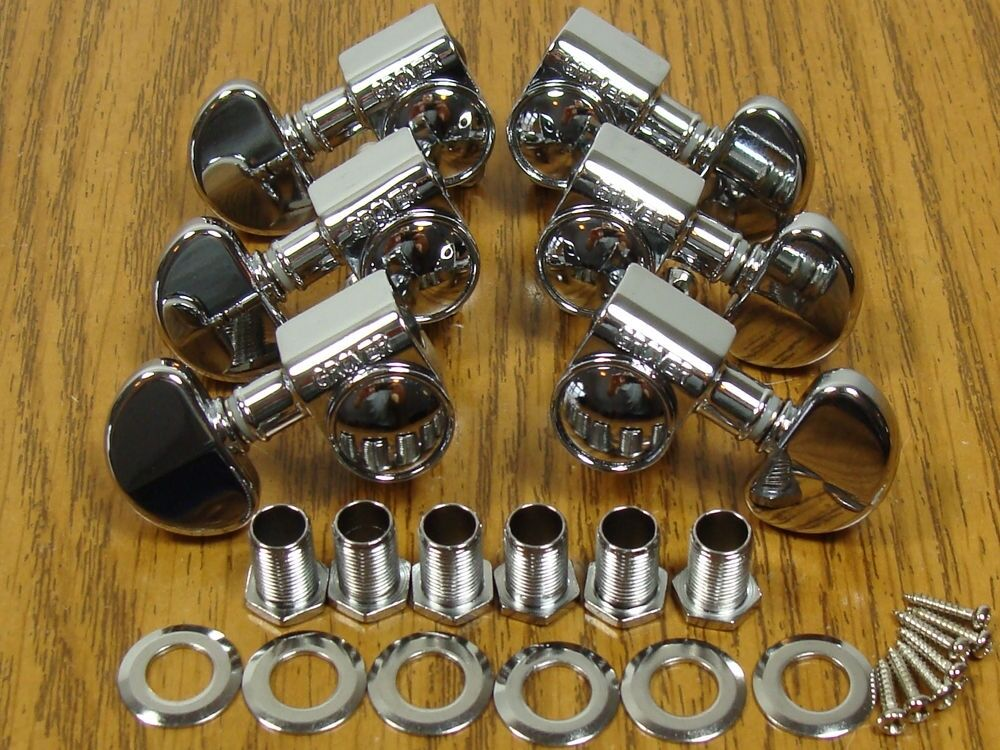 new grover rotomatic chrome tuners 3x3 for gibson les paul full size upgrade ebay. Black Bedroom Furniture Sets. Home Design Ideas
