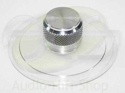 Plattenklemme Schallplattenklemme für Plattenspieler, Alu natur Knauf 35mm hoch (Plattenspieler Für Schallplatten)
