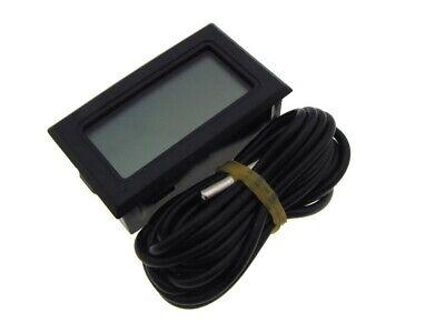 Digital Thermometer Temperature Meter Lcd External Sensor - Black