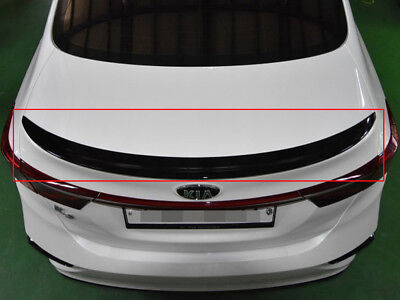 Onzigoo Glass Black Rear Trunk Wing Spoiler (Fits: KIA 2019+ Forte Sedan K3)