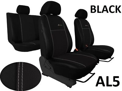 ECO LEATHER & ALICANTE TAILORED SEAT COVERS FOR CITROEN C4 PICASSO 5 SEATS Mk2