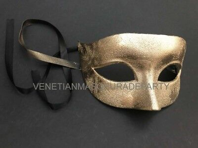 Men masquerade Gold eye mask simple New Year Eve Christmas Party Wear or Deco](Simple Masquerade Masks)