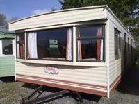 Static caravan 35 x 12 ft 3 bedrooms Cosalt Coaster Super in good condition