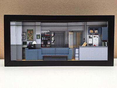 Seinfeld set shadowbox diorama (Deluxe) - picture memorabilia art collector gift