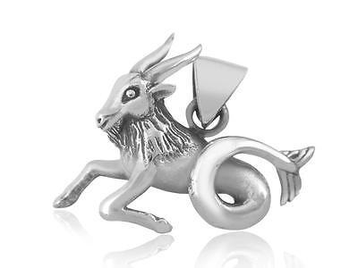 925 Sterling Silver Zodiac Astrology Horoscope Capricorn Animal Charm Pendant