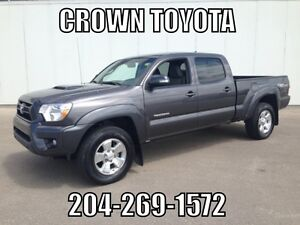 CERTIFIED! 2015 TOYOTA TACOMA TRD SPORT D-CAB 4WD V6! ONE OWNER