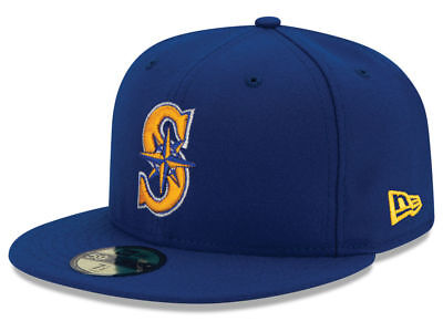 New Era Seattle Mariners ALT 2 59Fifty Fitted Hat (Royal Blue) MLB (Seattle Mariners Mlb)