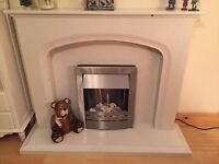 Marble fire surround & fire new