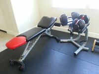 pair of adjustable dumbbells up to 24kg each BRAND NEW FREE DELIVERY