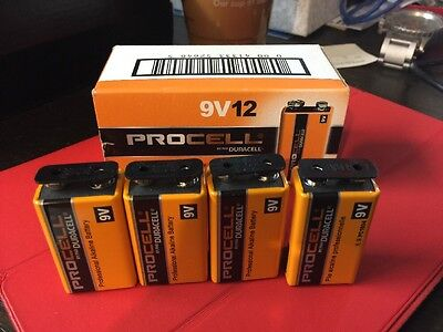 4 x 9 Volt (9V) Duracell Procell Alkaline Batteries (PC1604, 6LR61) LOWEST PRICE