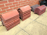 Ridge Tiles - Assorted terracotta, red and grey tiles, £1.50 each or £20 for the lot.