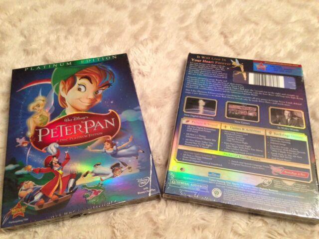 Peter Pan (DVD, 2007, 2-Disc Set, Platinum Edition), Disney, Free Shipping, New