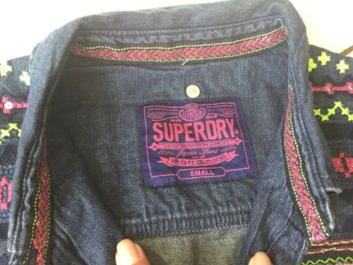 Chemise en jean superdry taille s neuve