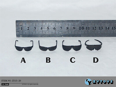 ZY Toys 1/6 4pc Black Glasses Sunglasses Accessory shoot glass F 12
