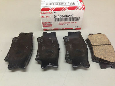 2012 - 2017 CAMRY REAR Brake Pads NEW genuine Toyota OEM 04466-06200