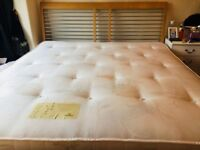 Super King size bed and mattress with mattress protector excellent condition