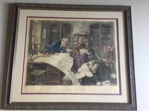 Antique W. Dendy Sadler Hand Colored Etching The Right Of Way Print - $45.00