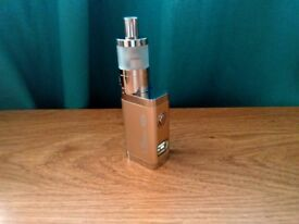 Authentic GS LSBOX 20W QUALITY VW E SHISHA MINI MOD CHAMPAGNE GOLD + L20 MINI TANK