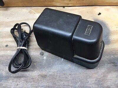 Boston Electric Pencil Sharpener Model 22 Black Teal Made In Usa Hunt Mgf. Co.