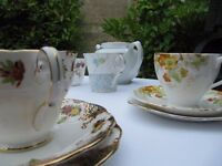 Large quantity of lovely vintage china, bunting and event items available for hire