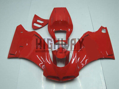 For DUCATI 748 916 996 998 1996-2002 Red Fairings Bodywork Kit ABS Plastic