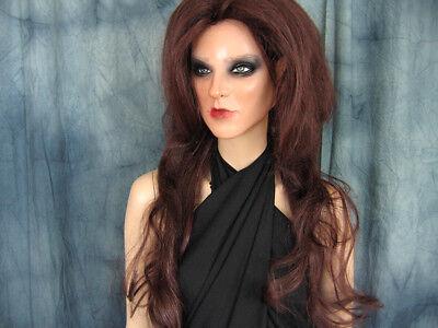 Latexmaske KEIRA +WIMPERN +PERÜCKE Real. Frauenmaske Gesicht Trans Crossdresser Latex Gesichtsmaske