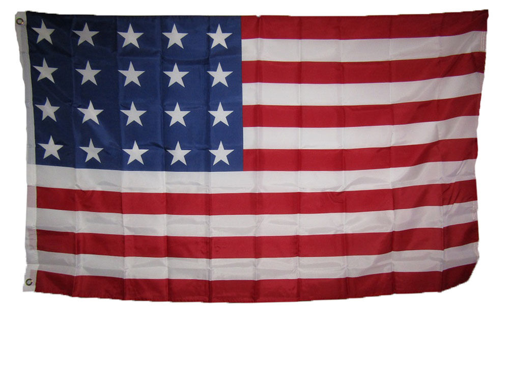 3x5 USA American 20 Star Linear 1818 Historical Flag 3'x5' B