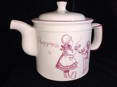 """Antique Royal Crownford English Teapot """"Happiness Is Being A Grandmother"""" 32 Oz"""