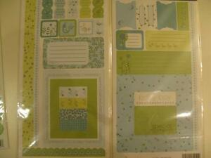 Scrapbooking stickers, embelishments and die cuts boy/girl