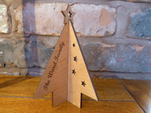 Wooden+Personalised+3D+Christmas+Tree+Card%3A+Custom+Special+Card+Decoration