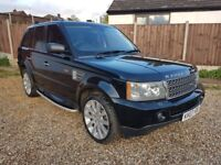 Black 2007 Range Rover Sport 3.6 TDV8 HSE Rear DVD, BLACK LEATHER Finance, P/X, Credit Cards Welcome