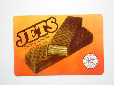 JETS CANDY VANILLA CHOCOLATE BAR SWEETS PORTUGAL POCKET CALENDAR CARD Chocolate Vanilla Candy Bar
