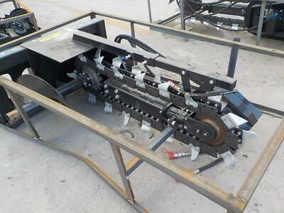 New Mower King Skid Steer Trencher Skidsteer Bobcat Cat Kubota