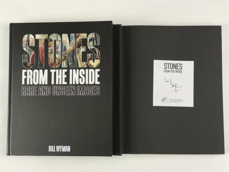 """BILL WYMAN SIGNED AUTOGRAPH """"STONES FROM THE INSIDE"""" BOOK - THE ROLLING STONES"""
