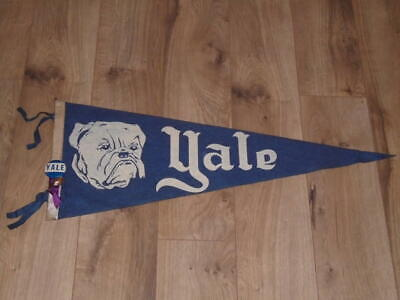 Used, VINTAGE 1940'S YALE BULLDOGS FOOTBALL PENNANT FULL SIZE WITH PIN BUTTON for sale  USA