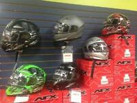 mini moto depot CASQUE FULL FACE D.O.T. VTT MOTO SCOOTER AFX $89