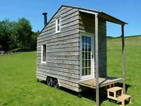 SHEPHERDS HUT Garden Shed Insulated with Wood Burner for Glamping Camping