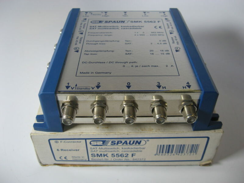 Spaun SMK5562F Cascadable Satellite Multiswitch - Free US Shipping