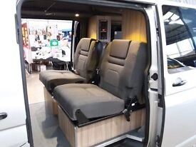 VW Transporter Camper Conversion with rear kitchen