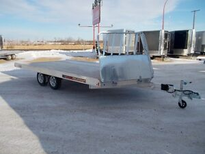 2017 Aluma Ltd. 8616 Flatdeck Snowmobile Trailer