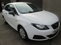 SEAT IBIZA E -- ONLY 51366 MILES- 5 SERVICE STAMPS- 12 MONTH MOT -- (white) 2010